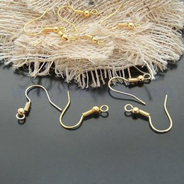 Wholesale 200PCS Gold 15mm Fish Hook Fit Earring Hooks, Jewerly Finding Earring Wire Sterling 925 Silver Fishwire Hooks Jewelry DIY