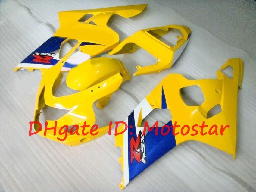 Fairing kit for SUZUKI 2004 2005 GSXR600 GSXR750 K4 04 05 GSXR 600 750 yellow blue K412