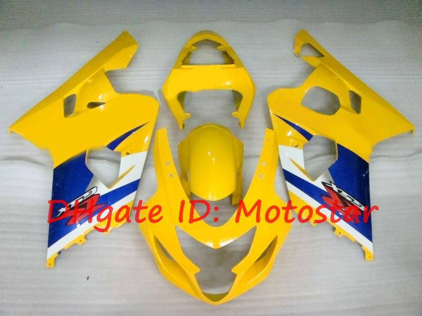 Fairing Kit voor Suzuki 2004 2005 GSXR600 GSXR750 K4 04 05 GSXR 600 750 Geel Blauw K412