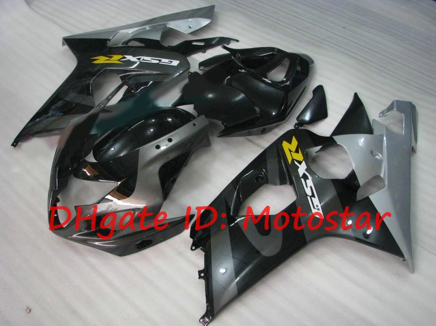 OEM Noir SIVER GSX-R Kit de carénage pour Suzuki 2004 2005 GSXR600 GSXR750 K4 04 05 GSXR 600 750