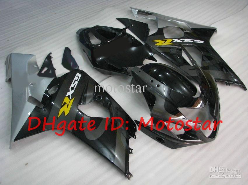 OEM Black Sivler GSX-R Kit de Feira para Suzuki 2004 2005 GSXR600 GSXR750 K4 04 05 GSXR 600 750