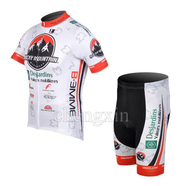 2012 ROCKY MOUNTAIN TEAM WHITE CYCLING 착용 짧은 소매 사이클링 + 짧은 설정 사이즈 : XS-4XL R01