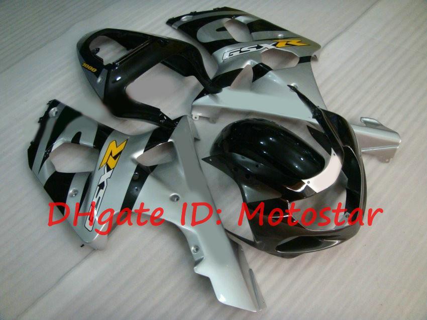 Fairing kit for SUZUKI 2000 2001 2002 GSX-R1000 01 02 00 1000 K2 GSXR1000 OEM GSXR silver black