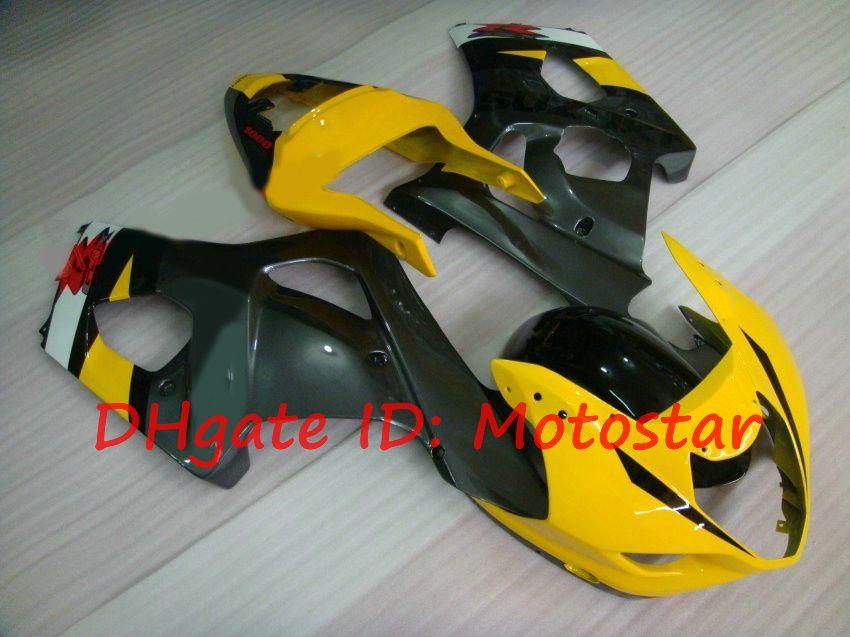 ABS Fairing kit for SUZUKI 2000 2001 2002 GSX-R1000 01 02 00 GSXR 1000 K2 GSXR1000 yellow gray
