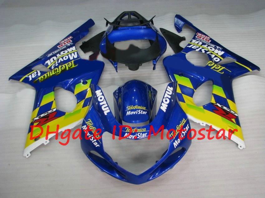 Movistar yellow blue Fairing kit for SUZUKI 2000 2001 2002 GSX-R1000 01 02 00 GSXR 1000 K2 GSXR1000