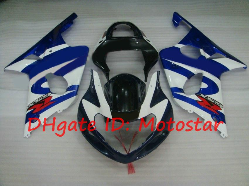 white blue blck for SUZUKI 2000 2001 2002 GSX-R1000 01 02 00 GSXR 1000 K2 GSXR1000 fairings kit