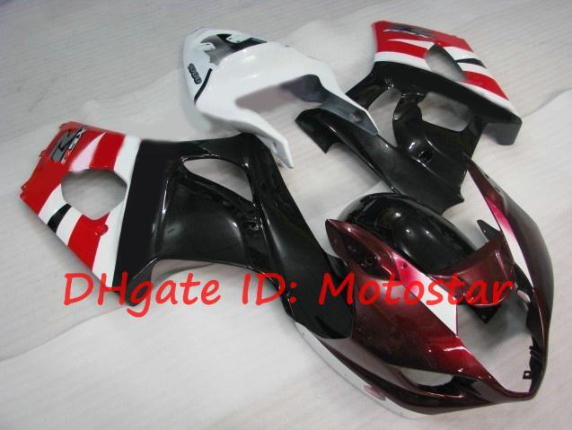 Rot weiß für 2003 2004 SUZUKI GSX-R1000 Verkleidungskits 03 04 GSXR 1000 K3 GSXR1000 R1000 Verkleidungssatz S138