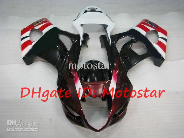 Rojo blanco para 2003 2004 SUZUKI GSX-R1000 carenados kits 03 04 GSXR 1000 K3 GSXR1000 R1000 carenado kit S138