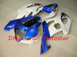 $enCountryForm.capitalKeyWord Canada - White Blue for 2003 2004 SUZUKI GSX-R1000 03 04 GSXR 1000 K3 GSXR1000 R1000 fairings kit S13A