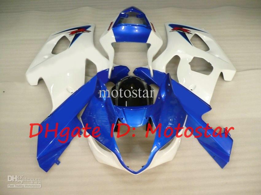화이트 블루 2003 2004 SUZUKI GSX-R1000 03 04 GSXR 1000 K3 GSXR1000 R1000 페어링 키트 S13A