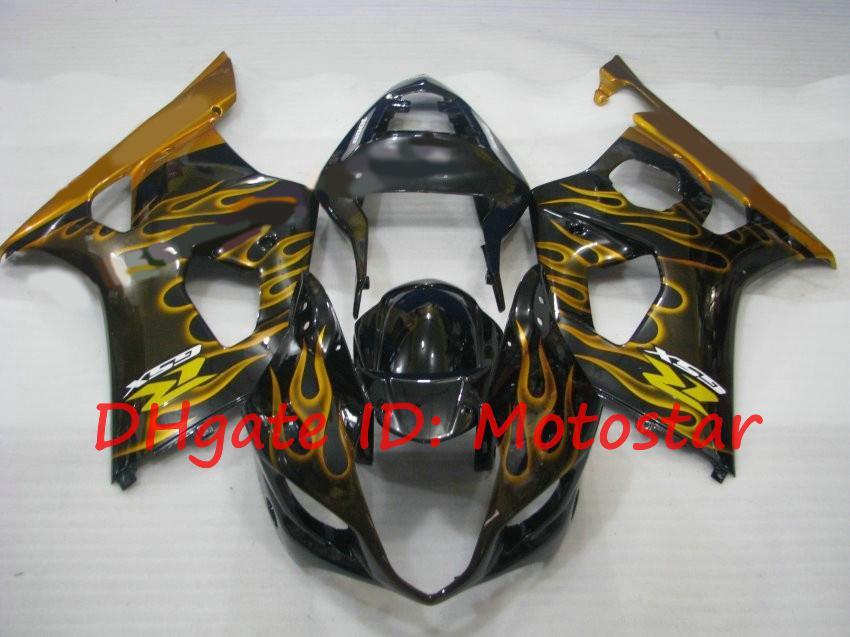 Gloden Flamme Pour 2003 2004 Kits de carénage Suzuki GSX-R1000 03 04 GSXR 1000 K3 GSXR1000 GSX R1000 Kit de carénage S13K