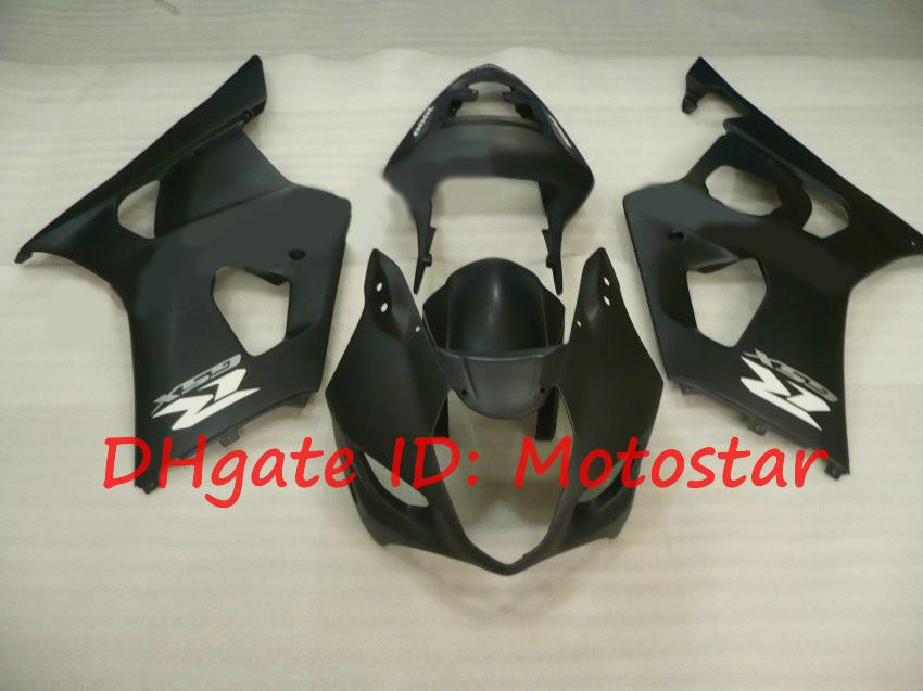 Carenados negros mate para 2003 2004 Kits de carenados SUZUKI GSX-R1000 03 04 GSXR 1000 K3 GSXR1000 GSXR 1000 S13L