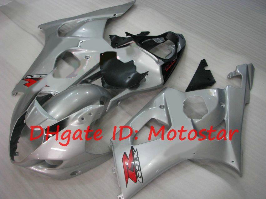 Silver fairings for 2003 2004 SUZUKI GSX-R1000 03 04 GSXR 1000 K3 GSXR1000 GSX R1000 bodywork S13M