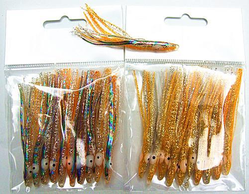 2.5 inch octopus lokken vissen lokken vissen tackle zachte aas slanke type heldere kleur hoge kwaliteit voor zout of zoet water vissen