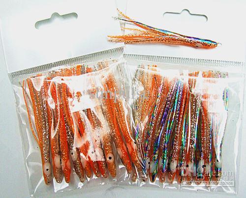 2.5 tums bläckfisk locka fiske locka fiske tackla mjuk bete smal typ ljus färg hög kvalitet för salt eller färskvattenfiske