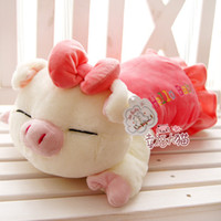 Wholesale 24 Pig Doll - three cis-pig plush toy doll pig cushion pillow stuffed plush pig toy best xmas gift free shipping