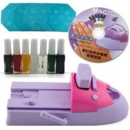 Wholesale Diy Stamping Machine - DIY Nail Art Printing Machine Stamp Kit Stamping Print Printer Set Polish Image plate Temaplte Set