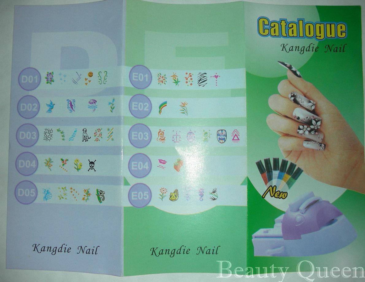 DIY Nail Art Printing Machine Stamp Kit Stamping Print Printer Set Polish Image plate Temaplte Set