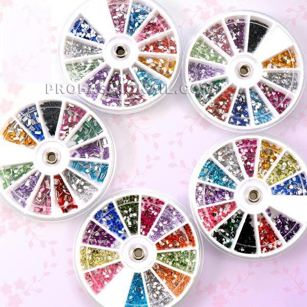 Nail Art Glitter 5x Wheels Big Rhinestone Gems Nail Stone Decoration ...