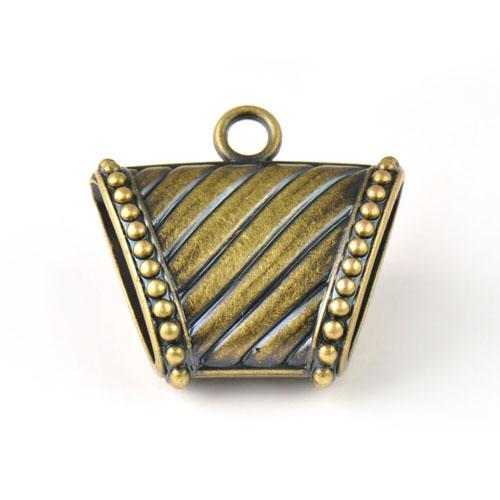 L'antiquité en laiton CCB bijoux en plastique foulards glissent pendentifs charmes, PT-760