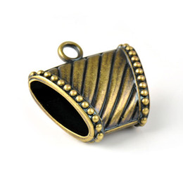 scarf slides wholesale UK - Antique brass CCB plastic jewelry scarves slide pendants charms,PT-760