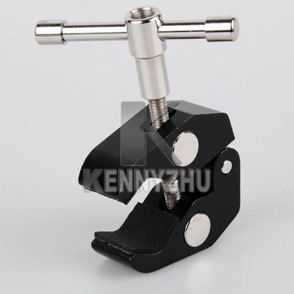 Articulé magique friction Bras en métal Grand Super Clamp 5cm clip pour Rig DSLR caméra caméscope lumière le moniteur de contrôle
