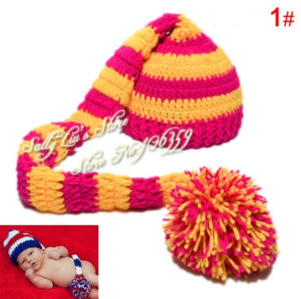 ... Photographie de bébé lutin Elf Hat pompon Crochet Toddler Noël Beanie chapeau  nourrisson les accessoires bonnet ... 1d4a45a2252