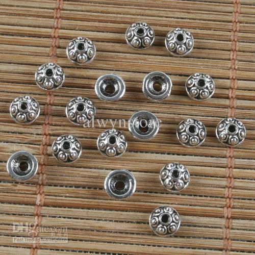 tibetische silberne kleine Musterkornkappen H0268