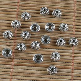 Chapeaux de perles tibétain en Ligne-200pcs chapeaux de perles petit motif en argent tibétain H0268