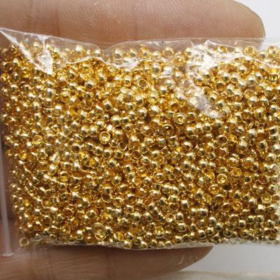 14 Gramm Goldton Crimps Runde Erkenntnisse Perlen H0280