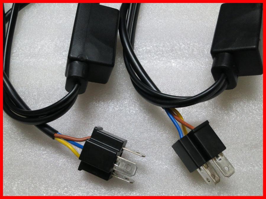 H4 Bi-Xenon H4-3 HB2 9003 HID Xenon Alto / Bajo Arnés de relé Todo en uno Universal para 35W 55W 12V 20A HID Kits de conversión de xenón