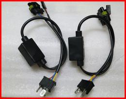Wholesale Bi Xenon Relay - 20pcs H4 Bi-Xenon H4-3 HB2 9003 HID Xenon High Low Hi Lo Relay Harness All In One Universal For 35W 55W 12V 20A HID Xenon Conversion Kits