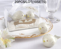 Wholesale baby shower ceramic favors for sale - Group buy 20pcs sets Love Birds Wedding favors of Feathering the Nest Ceramic Birds Salt Pepper Shakers Baby Shower Party Favors
