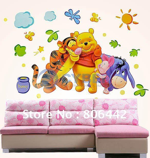 Superb Winnie The Pooh Wall Sticker Part - 1: Pvc Wall Sticker ,Winnie The Pooh,Wall Decal ,Wallpaper, Room Sticker,  House Sticker Stickers On Walls Stickers On Your Wall From Gz100du, $7.79|  Dhgate.Com