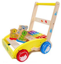 Wholesale Wooden Baby Walkers - multifunctional baby Wooden play walker height adjustable
