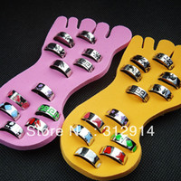 Mix Style Size ajustável 24pcs HotSell Fashion Esmalte Lucite Toe Rings Wholesale Fine Charming Gift
