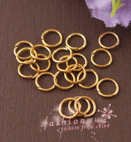 Wholesale Gold 5mm Jump Rings - 2000 Pcs Useful Gold Plated Metal Jump Rings 5mm 1 (001721)