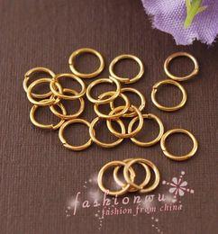 Wholesale Metal Split - 2000 Pcs Useful Gold Plated Metal Jump Rings 5mm 1 (001721)