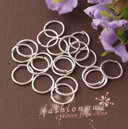 Wholesale Silver Jump Rings 8mm - 2000 Pcs Useful Silver Plated Metal Jump Rings 8mm (001720)