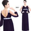 Purple V-Neck Chiffon Party Dresses Evening Dresses Prom Pageant Dresses SZ 2-6-10 12-18 HE1227021