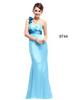 Sky Blue One-Shoulder Party Dresses Evening Dresses Prom Pageant Dresses SZ 2-6-10 12-18 HE1227027