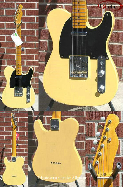 top popular Custom Shop Guitar 60th Anniversary Limited Broadcaster Nocaster Blonde China guitar 2021