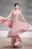 Dusty Pink V-Neck Party Dresses Evening Dresses Prom Pageant Dresses SZ 2-6-10 12-18 HE1227040