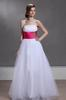 White&Pink Strapless Evening Dresses Party Dresses Prom Pageant Dresses SZ 2-6-10 12-18 HE1227048