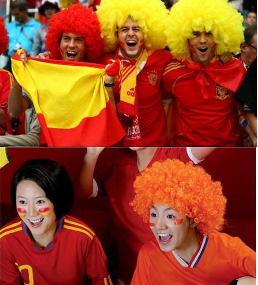 Arc-en-Afro Disco Clown Enfant Adulte Costume Football perruque de cheveux Halloween Football Fun