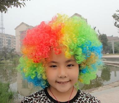 Traje de peluca de payaso Nuevo circo Curly Party Favors Pelucas afro Traje de peluca