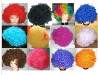 Wholesale Afro Hair Party - Clown Wig Costume New Circus Curly Party Favors afro wigs Costume Wig Hair
