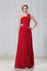 Red One-Shoulder Beads Evening Dresses Party Dresses Prom Pageant Dresses SZ 2-6-10 12-18 HE1227059
