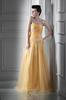 Yellow Organza Beads Evening Dresses Party Dresses Prom Pageant Dresses SZ 2-6-10 12-18 HE1227064
