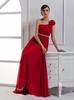 Red One-Shoulder Evening Dresses Party Dresses Prom Pageant Dresses SZ 2-6-10 12-18 HE1227070